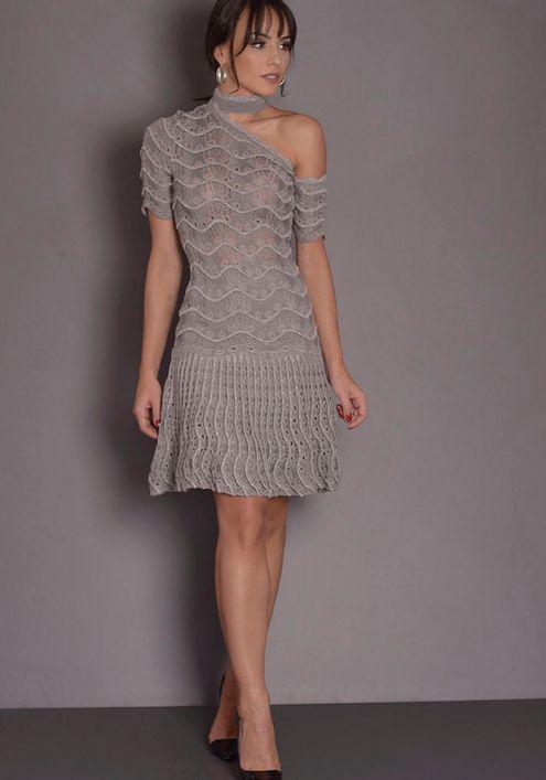 Vestido-Tricot-Renda-Nervura