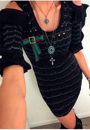 Vestido-Tricot-Curto-Babado-preto