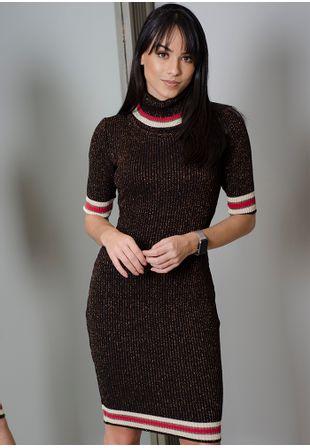 Vestido-Tricot-Canelado-Lurex-cobre