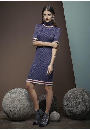 Vestido-Tricot-Canelado-Lurex