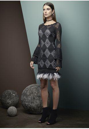 Vestido-Tricot-Plumas