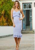 Vestido-Tricot-Midy-Bandage-Babado-Losango-