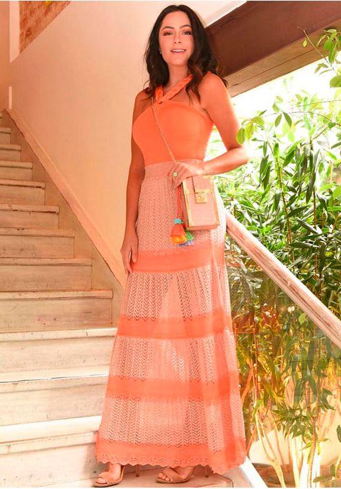 Saia-Tricot-Renda-Colorida-com-Brilho-Mare--rose-cobre-e-laranja-1