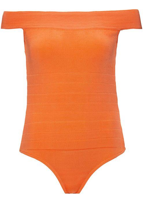 Body-Tricot-Ombro-a-Ombro-Ziper-sem-Brilho--laranja