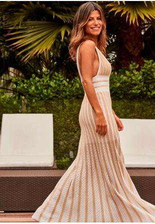 Vestido-Tricot-Lg-Renda-Listra--branco-e-dourado