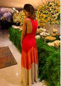 Vestido-Tricot-Longo-Nadador-Plissado--vermelho