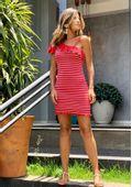 Vestido-Tricot-Bandage-Assimetrico-Babado-Dindi--vermelho-e-rosa