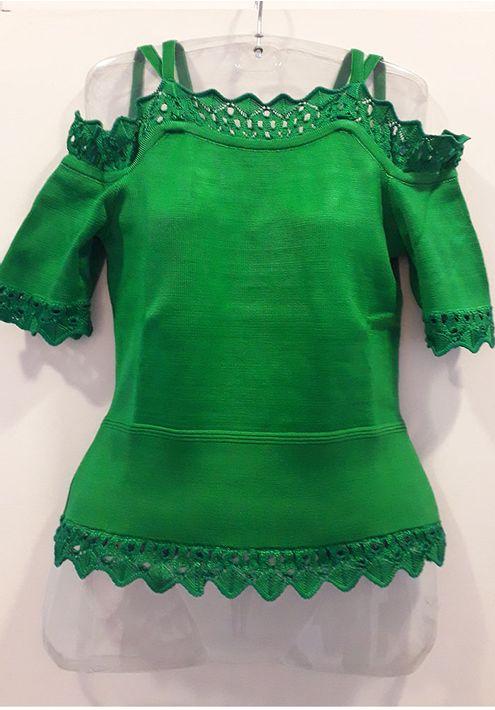 Blusa-Tricot-Ombro-a-Ombro-Bandage-Renda-Ligia--verde