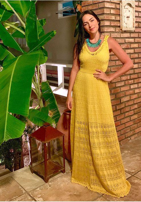 Vestido-Tricot-Longo-Renda-Alca-Tranca--amarelo