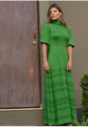 Vestido-Tricot-Longo-Liso-Gola-Laco---verde-1