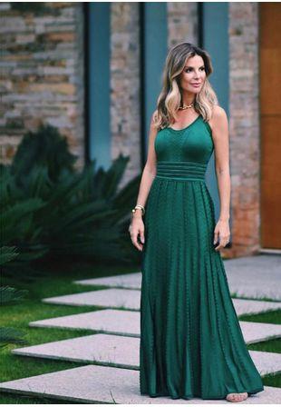 Vestido-Tricot-Longo-Renda-Charme--verde