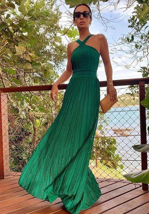 Vestido-Tricot-Longo-Elo-Grego--verde