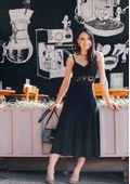 Vestido-Tricot-Midy-Losango-Rendado-Alca--preto