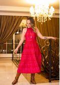 Vestido-Tricot-Midy-Xadrez-Plissado--vermelho-2