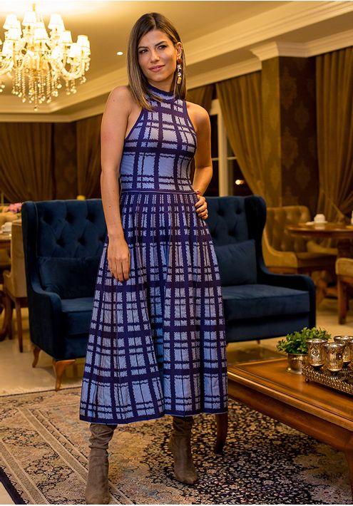 Vestido-Tricot-Midy-Xadrez-Plissado--azul-1