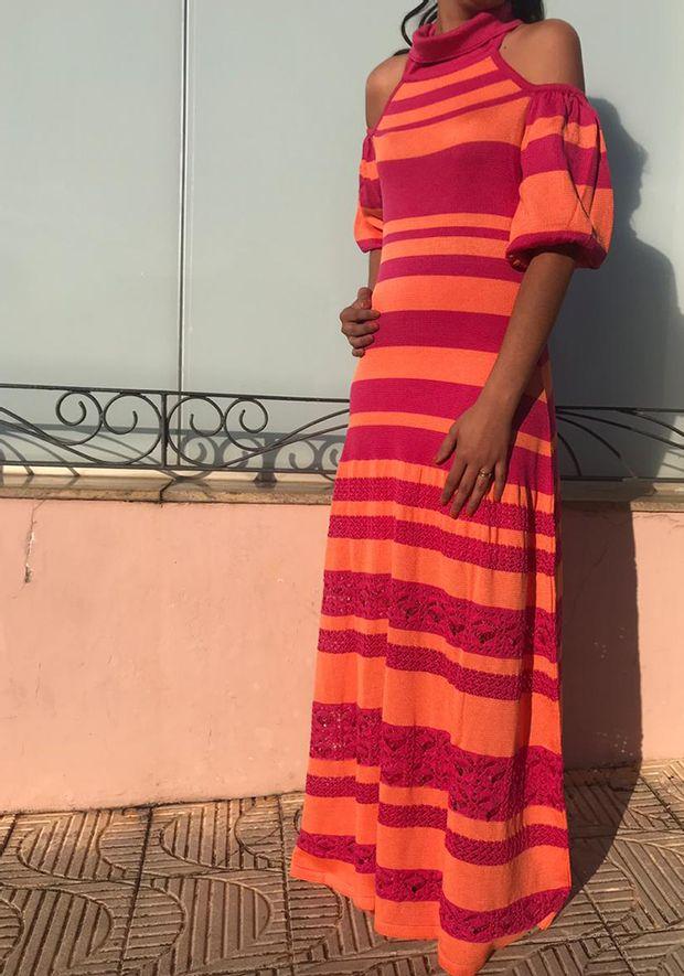 Vestido-Tricot-Longo-Listras-Gola-Laco--pink-e-laranja-1