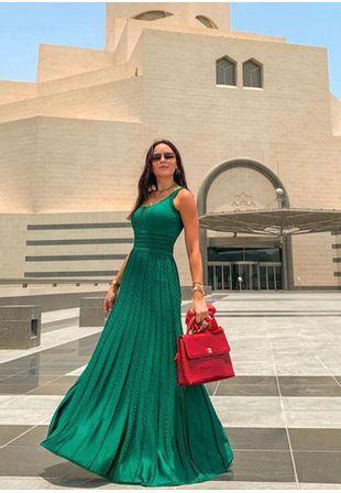 Vestido-Tricot-Longo-Renda-Charme--verde-1
