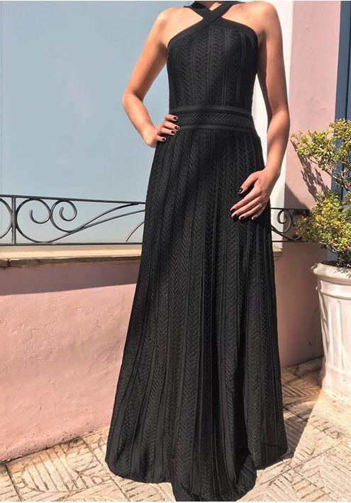 Vestido-Tricot-Longo-Elo-Grego--preto-1
