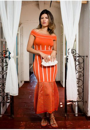 Vestido-Tricot-Midy-Ombro-a-Ombro-Presponto-Sereia--laranja-1