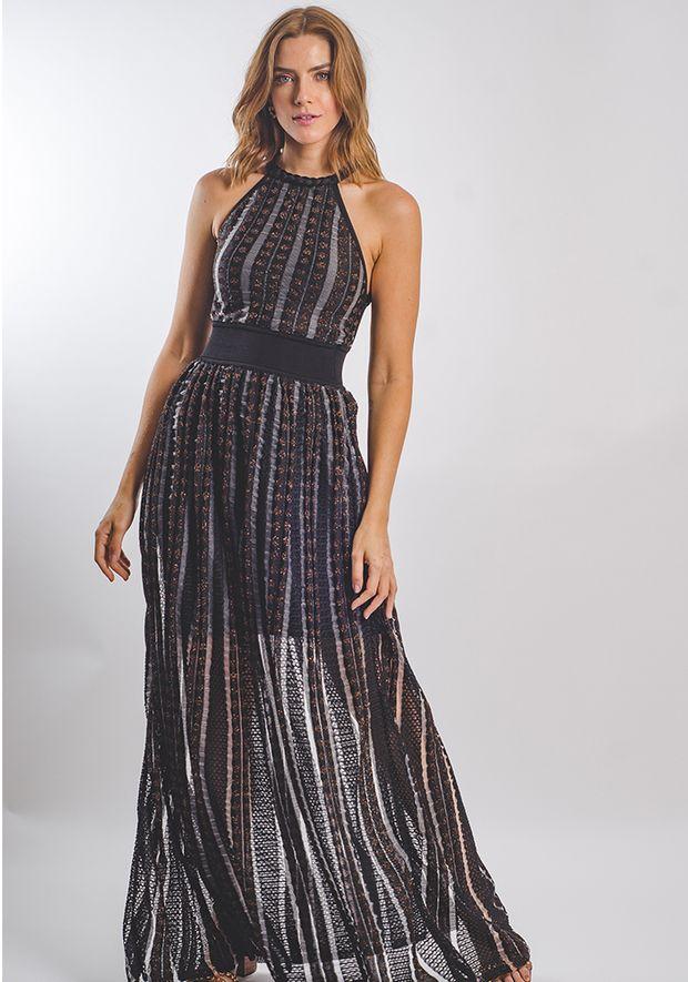 Vestido-Tricot-Longo-Poa-Transparencia--preto-e-cobre-1