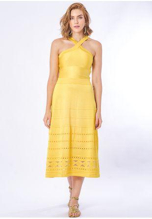Vestido-Tricot-Midy-Losango-Transparencia-Costas--amarelo-1