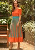 Saia-Tricot-Midy-Plissada-Tie-Dye-Furos--laranja-e-turquesa-2