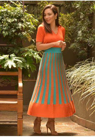 Saia-Tricot-Midy-Plissada-Tie-Dye-Furos--laranja-e-turquesa-1