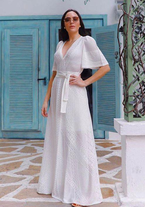 Vestido-Tricot-Longo-Decote-Transpassado-Florescer--OFF-WHITE-1