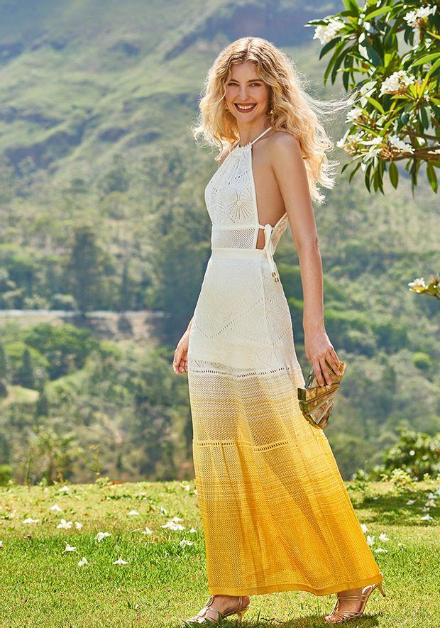 Vestido-Tricot-Longo-Rendado-Tala-Viva--off-white-e-amarelo-1