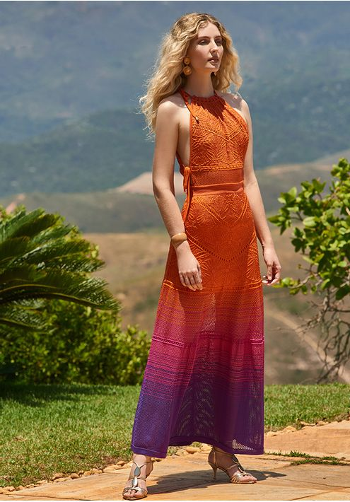 Vestido-Tricot-Longo-Rendado-Tala-Viva--laranja-e-pink-1