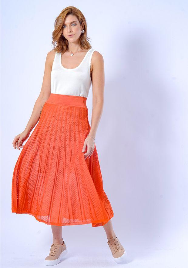 Saia-Tricot-Midy-Nervuras-Pontinhos--laranja-1