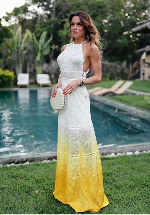 Vestido-Tricot-Longo-Rendado-Tala-Viva--off-white-e-amarelo-4
