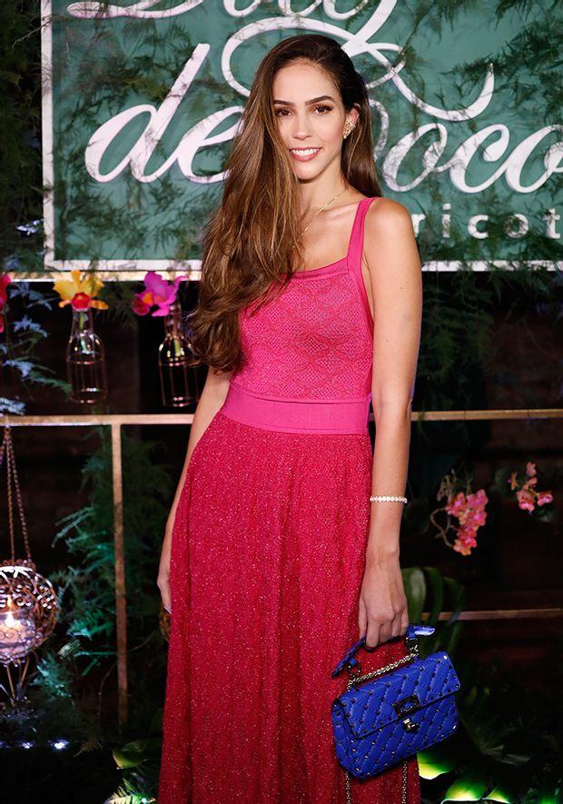 Vestido-Tricot-Midy-Losango-com-Furos--pink-com-brilho-2