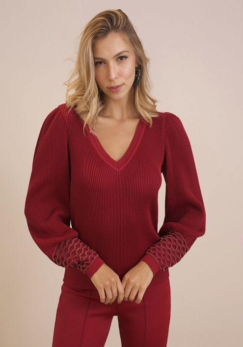 Blusa-Tricot-Basic-Decote-V-Punho-Transparencia--vermelho-1